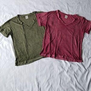 PINK Victoria Secret 2pc t-shirts S super soft!
